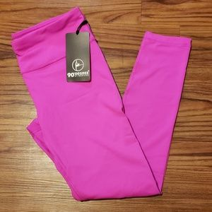 NWT 90 degree by reflex hot pink capris